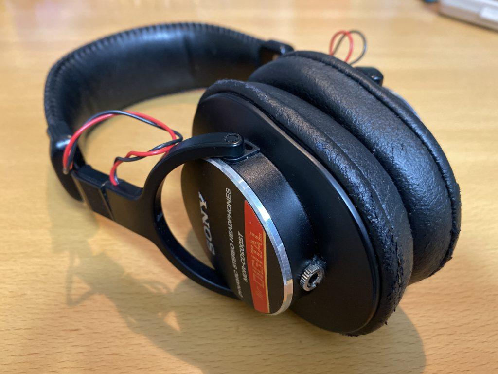SONY MDR-CD900STのヘッドバンドとイヤーパット ...